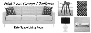 High Low Design Challenge - Kate Spade Living Room