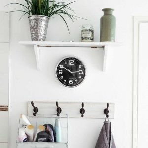 farmhouse style example with coat hooks, photo by jonny caspari from unsplash.com
